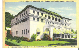 Maurice Baths And Therapeutic Pool, Main Entrance To Government Reservation, Hot Springs, Arkansas - Hot Springs