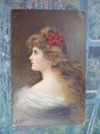 Femme à La Fleur Rouge - Asti