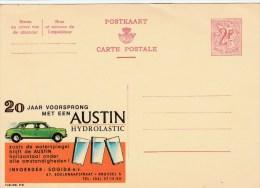 """BELGIQUE - CARTE ENTIER PUBLICITAIRE """"PUBLIBEL"""" N°2116 - AUTO AUSTIN - Stamped Stationery"""
