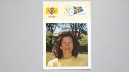 Aland 2 Maximumkarte/Ausstellungskarte MK/AK, SST STOCKHOLM 1993, Flagge Von Åland, Karte: Königin Silvia - Aland