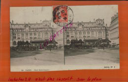 CPA  75  PARIS   La Gare St-Lazare  Serie N° 1   Animé    2014 DIV 391 - Stereoscopische Kaarten