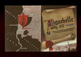 26 - AIGUEBELLE - Feuillet Publicitaire Liqueur - Moines - Publicités