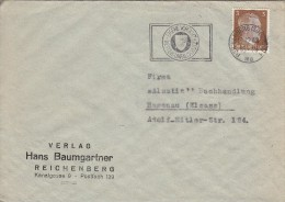 REICHENBERG  (SUDETENL)  - Maschinenstempel - EIGENE VORSICHT BESTER  UNFALLSCHUTZ - 1943 - Brief - - Deutschland