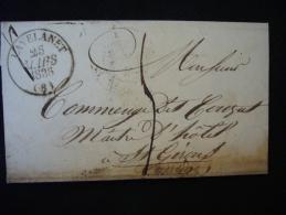 1836 - Cad Lavelanet Pour St-Girons - Marcophilie (Lettres)