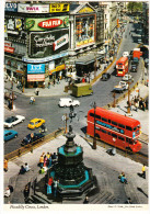 London:  AUSTIN 1100 & MINI, FORD CAPRI,  AEC DOUBLE-DECKER BUS, COMMER VAN  Etc. - Piccadilly Circus - Toerisme