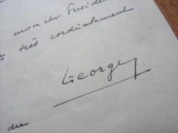 General Alphonse GEORGES (1875-1951) - Guerre 14/18, 39/45, Attentat Marseille, CFLN ... - AUTOGRAPHE - Autographes