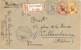 LBL26C - FINLANDE LETTRE RECOMMANDEE KALLIO-BERGHÄLL / VILLEURBANNE JANVIER 1920 - Finlandia