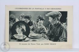 Old Trading Card/ Chromo Topic/ Theme Cinema/ Movie - Spanish Advertising - Baby Peggy Actress - Cromos