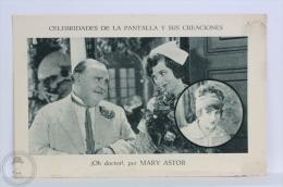Old Trading Card/ Chromo Topic/ Theme Cinema/ Movie - Spanish Advertising - Mary Astor Actress - Cromos