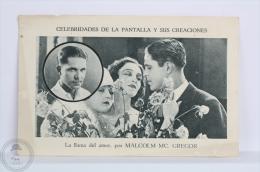 Old Trading Card/ Chromo Topic/ Theme Cinema/ Movie - Spanish Advertising - Malcolm Mc. Gregor Actor - Cromos