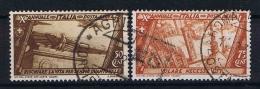 Italy:  1932  Sa A42 + A 43 , Mi 431 - 432 Used - 1900-44 Vittorio Emanuele III