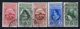 Italy:  1932  Sa A132 - A36  , Mi 401 - 405 Used - 1900-44 Vittorio Emanuele III