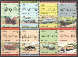 Saint Lucia 1984 Mi 696-711 MNH CARS - Cars