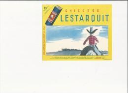 """Buvard (format 160x130mm) - B1390 -Promotion Pour La Chicorée """" LESTARQUIT""""  ( Non  Utilisé) - C"""