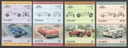 Saint Lucia 1984 Mi 652-659 MNH CARS - Cars