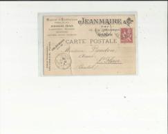Carte De Maison Expedition -JEANMAIRE ( Poissons Frais A Paris Adressé A Mr BOUDOU -Avoué A Saint-Flour - - Commerce