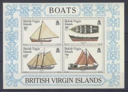 British Virgin Islands - 1984 Boats Block MNH__(TH-4165) - British Virgin Islands