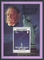 British Virgin Islands - 1986 Statue Of Liberty 75c Block MNH__(TH-3637) - British Virgin Islands