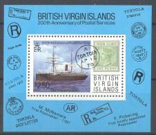 British Virgin Islands - 1987 Postal Service Block MNH__(TH-12177) - British Virgin Islands