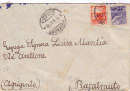 26  Italia Democratica. Busta  Racalmuto ( Ag ) - 6. 1946-.. Repubblica