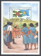 Dominica - 1985 Scouting Girls Block MNH__(TH-12336) - Dominica (1978-...)