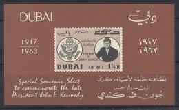 Dubai - 1964 John F. Kennedy Block MNH__(TH-1507) - Dubai