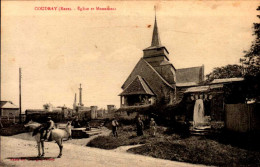 27-COUDRAY...EGLISE ET MONUMENT..CPA ANUIMEE - France