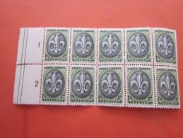 WERELD JAMBOREE CELDIO TOT EN MET 31-12-1937 Timbre  Vignette érinophilie  Neuf MNH ** BLOC DE 10 BDF >MILLESISME  1 & 2 - Erinnofilie