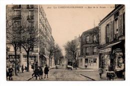 La Garenne Colombes Vue Animée Avec Enfants Rue De La Pointe Librairie Papeterie Hotel Cafe Ecrite En 1942 - La Garenne Colombes