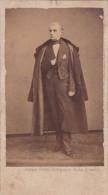 PHOTO-CDV-DEDICACEE-DE ROTTERMANN-?-1867-NOBLESSE-MEDAILLE-GHEMAR-FRERES- BRUXELLES-VOYEZ 2 SCANS-RARE-! ! ! - Oud (voor 1900)