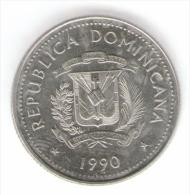 DOMINICANA 25 CENTAVOS 1990 - Dominicana