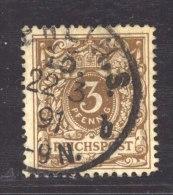 Allemagne  -  Reich  :  Mi  45 Da  (o)  Signé - Geprüft  , Variété: Timbre Large Cote: 50 € - Usados