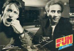 Doc Et Difool  Animateurs Sur Fun Radio. Cp Format 10-15 - Entertainers