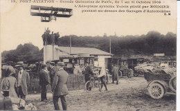 JUVISY, PORT AVIATION, Rougier Sur Biplan Voisin, Audessus Des Garages D'automobiles, Non Circulée - Juvisy-sur-Orge