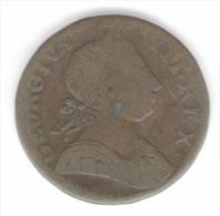 GREAT BRITAIN / GRAN BRETAGNA - George IV - 1/2 PENNY ( 1775 ) Copper - 1662-1816 : Antiche Coniature Fine XVII° - Inizio XIX° S.