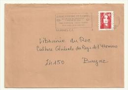 MORBIHAN  - Dépt N° 56 = VANNES CT 1995 = Flamme Type II = SECAP = Ligue Contre Le Cancer - Postmark Collection (Covers)