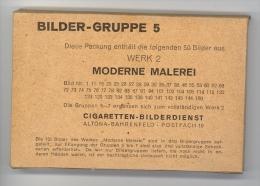 Cigaretten-Bilderdienst / Moderne Malerei  / Bilder-Gruppe 5 Werk 2 / 50 Bilder Kpl. In Originalverpackung, Ungeöffnet - Cigarette Cards