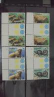 (WWF-062) W.W.F. Vanuatu Dugong MNH Gutter Pairs GP Perf Stamps 1988 - W.W.F.