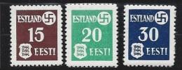 Estonie N° Yver Et Tellier, N° 1 / 3 ** - Estonie