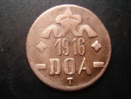 DOA  1916 EMERGENCY TABORA COINS 20 HELLER COPPER TYPE B - B . - Afrique Orientale Allemande