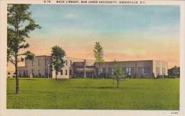 South Carolina Greenville Mack Library Bob Jones University