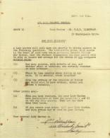 Letter Air Raid Lady Warden House Visit 1941 WW2 Blitz War Replica - Historische Dokumente