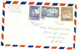 LBL26C - VENEZUELA LETTRE AU DEPART DE CARIPITO OUR PORT OF SPAIN AVRIL 1940 - Venezuela
