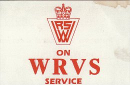 On WRVS Service Duty Windscreen Card Womens Royal Voluntary Service Replica - Historische Dokumente