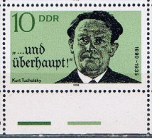 DDR+ 1990 Mi 3321 Mnh K. Tucholsky - [6] Democratic Republic