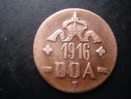 DOA  1916 EMERGENCY TABORA COINS 20 HELLER COPPER TYPE B - B . - German East Africa