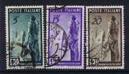 Italy: 1949 Sa 601-603 , Mi 774 - 776 Used - 6. 1946-.. Repubblica