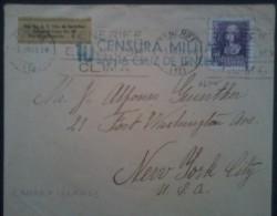 España 1939. Canarias. Carta De Tenerife A Nueva York. Censura. - Marcas De Censura Nacional