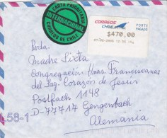 ATM On Cover: Chile 2006 SFS To Germany  (L58-1) - ATM - Frama (vignette)