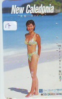 TELECARTE JAPON * NEW CALEDONIA  (17) TELEFONKARTE PHONECARD JAPAN * FEMME * SEXY LADY - Nieuw-Caledonië